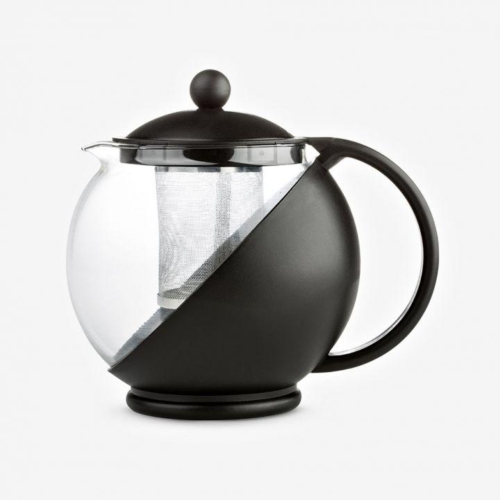 קנקן זכוכית לחליטת תה מעטפת פלסטיק