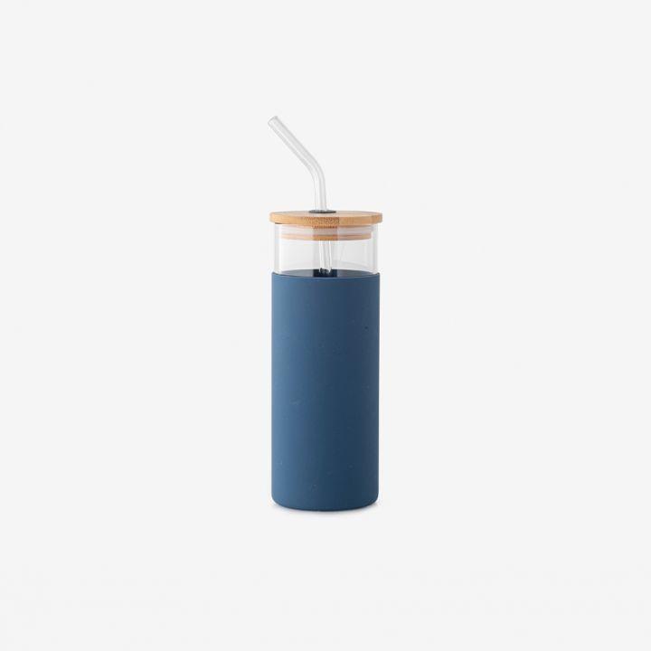 כוס זכוכית חבק סיליקון