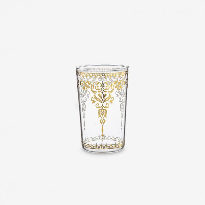 כוס זכוכית מעוטרת ALADIN