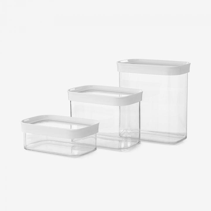 סט 3 אחסוניות פלסטיק