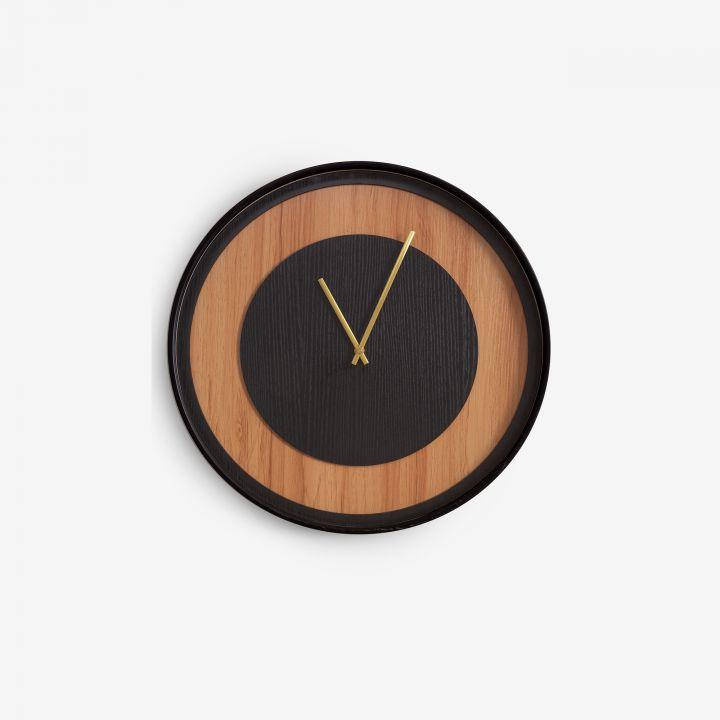 שעון קיר עץ DOTTA