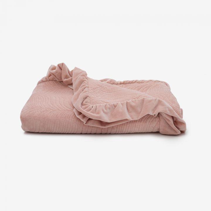 כיסוי מיטה קטיפה FLORA