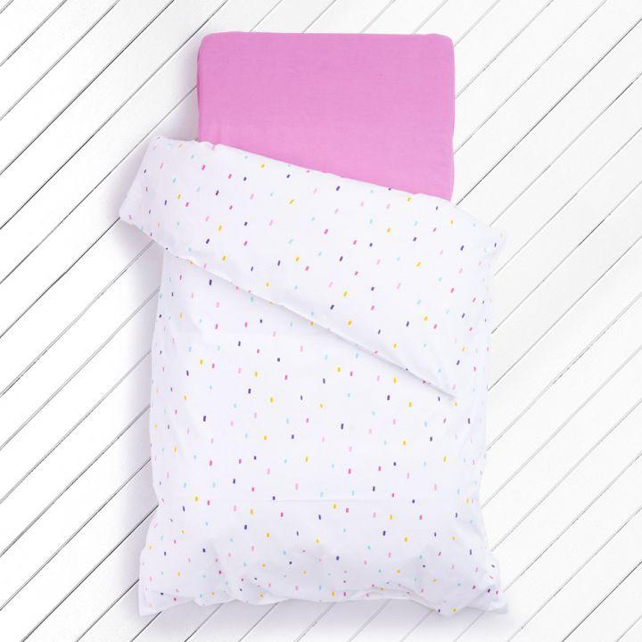 סט מצעי כותנה למיטת תינוק JELLY