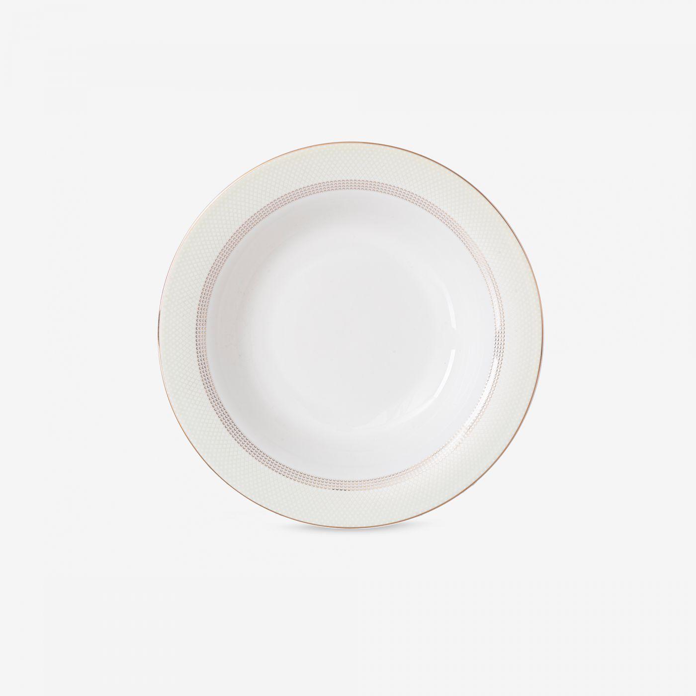 צלחת פורצלן ROYAL   מרק