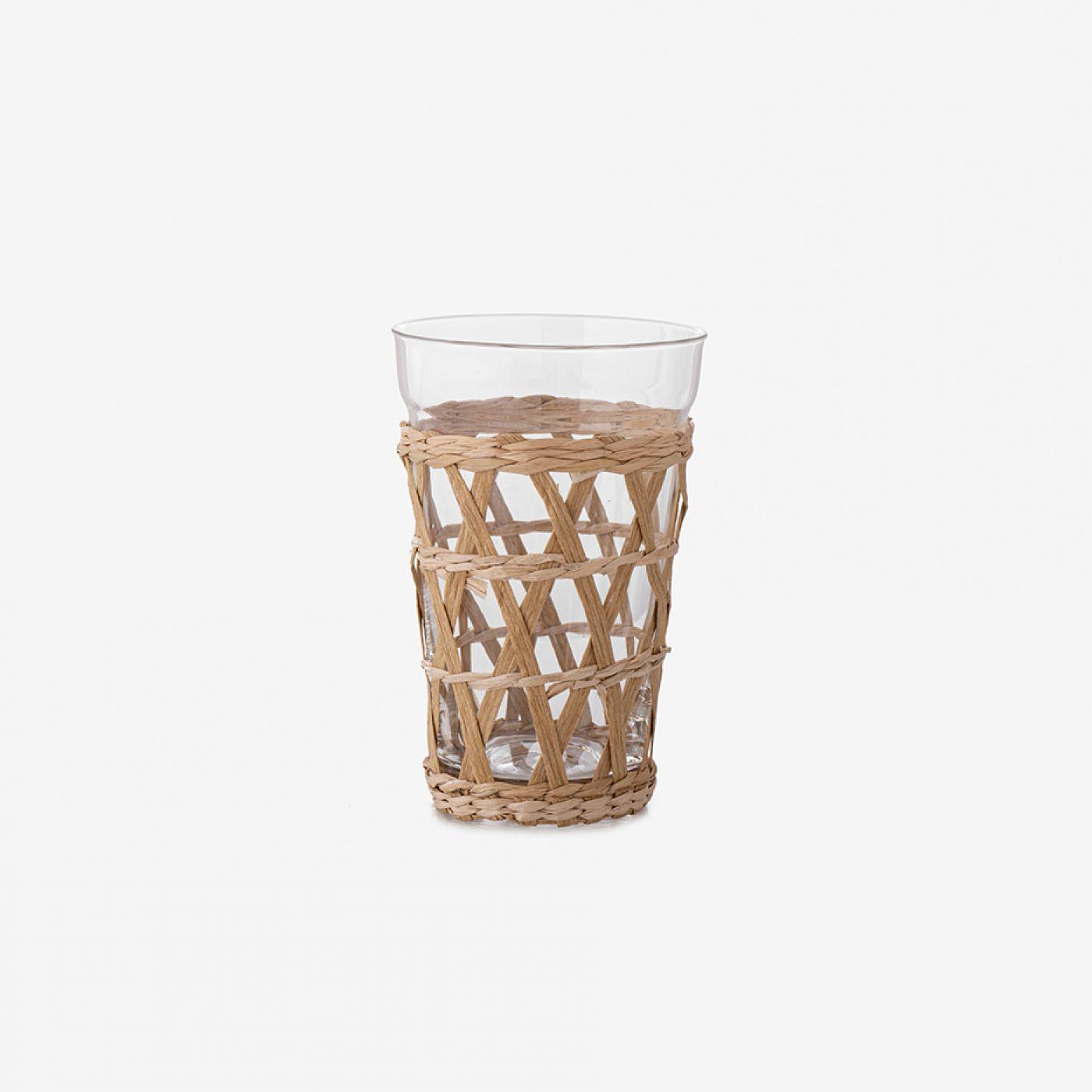 כוס CLOE מעטפת קש