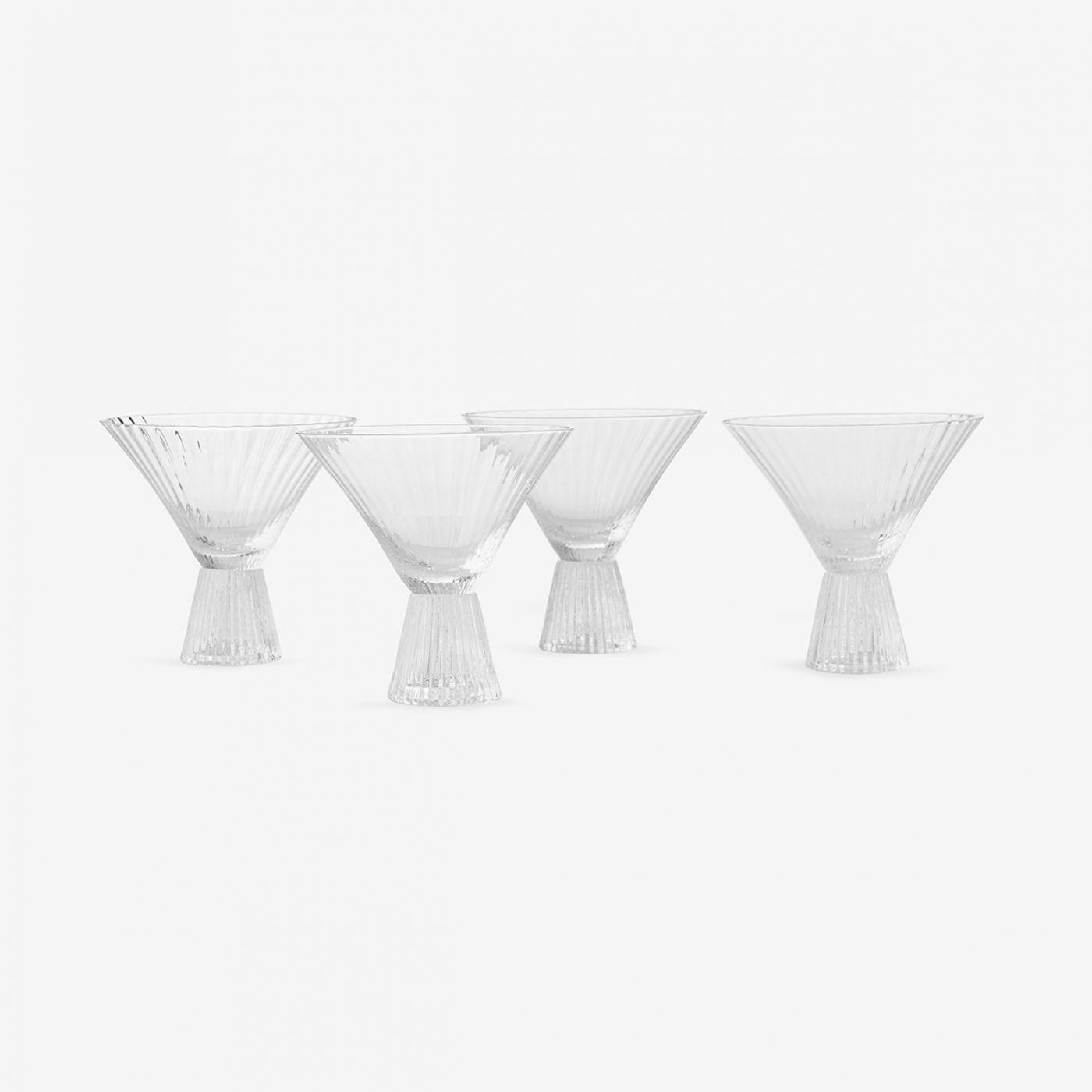 מארז 4 כוסות מרטיני